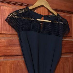Zara Dresses - ZARA navy dress